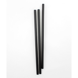 Netchoice 8.5 in Giant Black Unwrapped Straw, Case of 3200