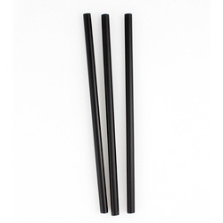 Netchoice 5.75 in Black Jumbo Unwrapped Straw, Case of 2500
