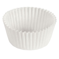 Hoffmaster Fluted Bake Cup, 3 1/2 inx1 1/2 in, White