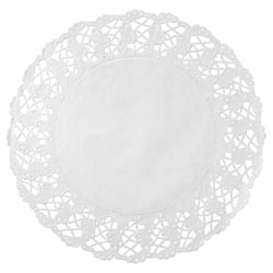 Hoffmaster Kenmore Round Cake Lace, 16-1/2 in, White