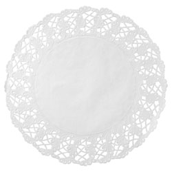 Hoffmaster Kenmore Round Cake Lace, 18-1/2 in, White