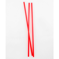 "Netchoice 8"" Unwrapped Red Stirrer, Case of 5000"