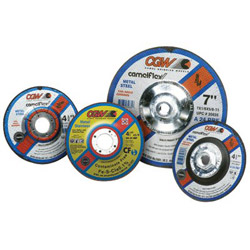 "CGW Abrasives 5"" x 1/8"" x 7/8"" A24-r-bf Steelt27 Deep Ct Whl"