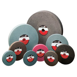 "CGW Abrasives 8"" x 1"" x 1 A24-q-v Bench Wheel 1 Pk"