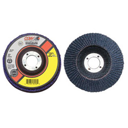 "CGW Abrasives 4-1/2"" x 5/8""-11 Z3-120 T29xl 100% Za Flap Disc"