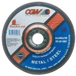 "CGW Abrasives 6"" x .045"" x 7/8"" T27 Za60-s-bf Quickie C.o. Whl"