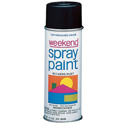 Krylon 11-oz. Gloss Black Weekend Spray Paint Inter