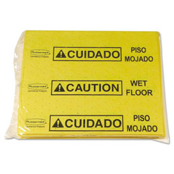Rubbermaid Over-The-Spill Pad Tablet w/25 Pads, Yellow/Black,14 x 16 1/2