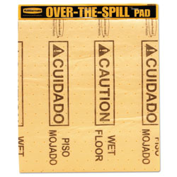 Rubbermaid Over-The-Spill Pad Tablet with Medium Spill Pads, Yellow, 22/Pack