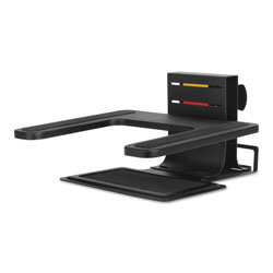 Acco Adjustable Laptop Stand, 10 in x 12 1/2 in x 3 in - 7 inh, Black