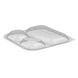 Anchor Packaging Culinary Squares Three Compartment Clear Lid for Item CS85323B