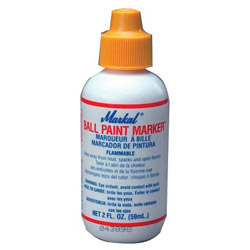 Markal Bpm-whitecd Ball Paint Marker