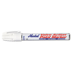 Markal Valve Action Paint Marker, White