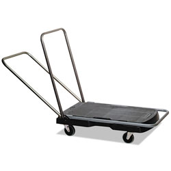 Rubbermaid Utility-Duty Home/Office Cart, 250 lb Capacity, 20.5 x 32.5, Platform, Black