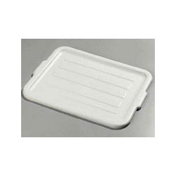 "Carlisle Foodservice Products Gray Comfort Curve Universal Lid, 20"" x 15"" x 3/4"""