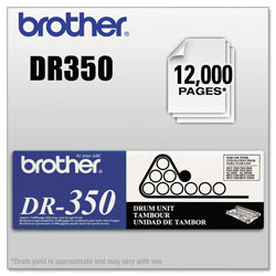 Brother DR350 Drum Unit, 12000 Page-Yield, Black