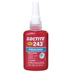 Loctite 243 Medium Strength Blue Threadlocker, 50 mL, Blue