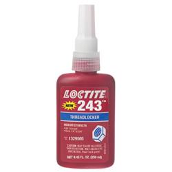 Loctite 243 Medium Strength Blue Threadlocker, 250 mL, Blue