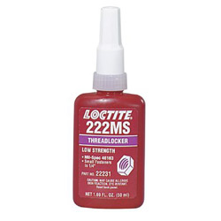 Loctite 50-ml Threadlocker 222mslow/Strength/small Screw