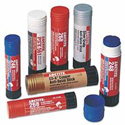 Loctite QuickStix 268 High Strength Threadlockers, 19 g, 3/4 in Thread, Red