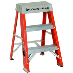 Louisville Ladder 12' Advent Fiberglass Step Ladder 300lb.