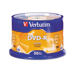 Verbatim 50 x DVD-R - 4.7 GB 16X - Spindle - Storage Media