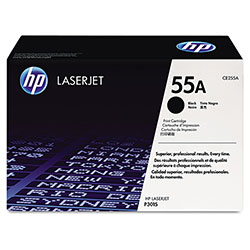 HP 55A Black Toner Cartridge ,Model CE255A ,Page Yield 6000