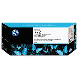 HP 772 Black Ink Cartridge, Model CN633A, Page Yield 300 ml