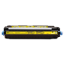 HP 501A Yellow Toner Cartridge, Model Q6472AG, Page Yield 6000