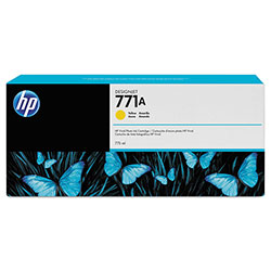 HP 77 Yellow Ink Cartridge ,Model CE040A ,Page Yield 200 Black/360 Color