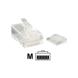 Startech Cat 6 RJ45 Stranded Modular Plug Connector - Network Connector
