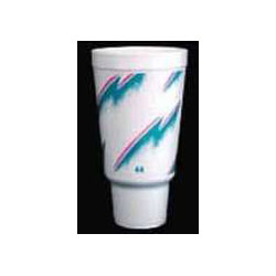 Dart 44AJ32E Impulse Design Foam Cups with Pedestal, 44 Ounce