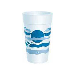 Dart 44TJ32H Terra Cotta Design 44 Ounce Foam Cups