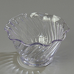 Carlisle Foodservice Products Tulip Dessert Dish, 5 OZ, Clear