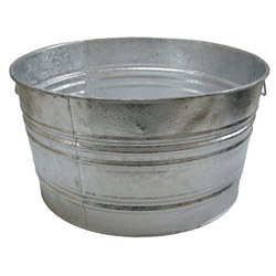Magnolia Brush 48.61 Quart Round Galvanized Pail