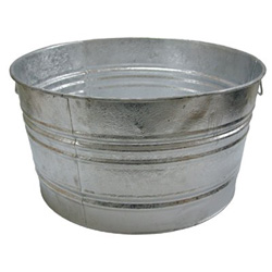 Magnolia Brush Galvanized Round Tub, 73.97 Quart