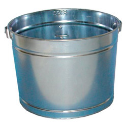 Magnolia Brush 5 Quart Galvanized Metal Pail