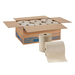 enMotion Recycled Paper Towel Roll, Brown, 89480, 800 Feet Per Roll, 6 Rolls Per Case