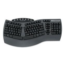 Fellowes Ergonomic Split-Design Keyboard w/Antimicrobial Protection, 105 Keys, Black
