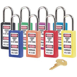 "Master Lock Company 6 Pin Red Safety Lockoutpadlock w/3"" Shackle Ka"
