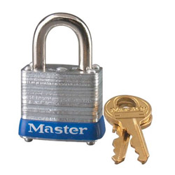 "Master Lock Company 4 Pin Tumbler Padlock 2-1/2"" Shackle Key"