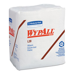 WypAll® L20 Kimtowel Cleaning Wipes, White, Case of 12