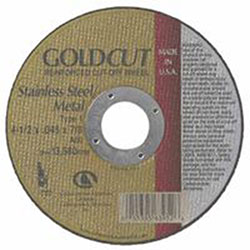 Carborundum GoldCut Reinforced Aluminum Oxide Abrasives, Type 1, 4 1/2 X .045 X 7/8, 60 Grt