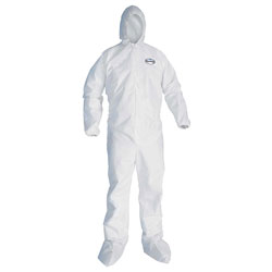 Kleenguard® coverall xlarge white with hd/btels