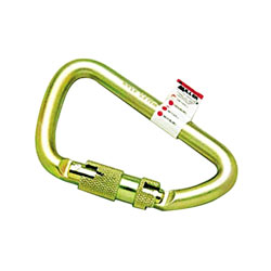 Miller Fall Protection Twist-Lock Carabiner, 1 Spring-Loaded Gate, 4 1/2 x 2 3/4