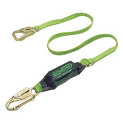 Miller Fall Protection 6' Backbiter Tie Back Lanyard w/Snap Hooks Green
