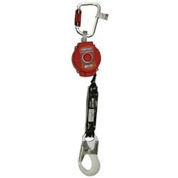Miller Fall Protection TurboLite Personal Fall Limiter, 6 ft, Steel Twist-Lock Carabiner, ANSI Rebar