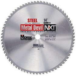 M.K. Morse Metal Devil™ NXT Circular Saw Blades, 14 in, 1 in Arbor, 1,800 rpm, 66 Teeth
