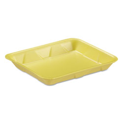 "Genpak 4DYL Yellow Foam Meat Tray, 9 1/4"" x 7 1/4"" x 1 1/8"""