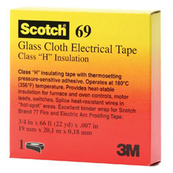 "3M 69 1/2"" x 66 Glass Cloth Tape"